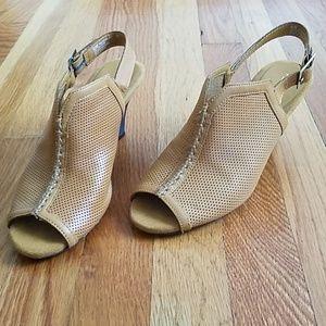 Aerosoles open toe sling back heels